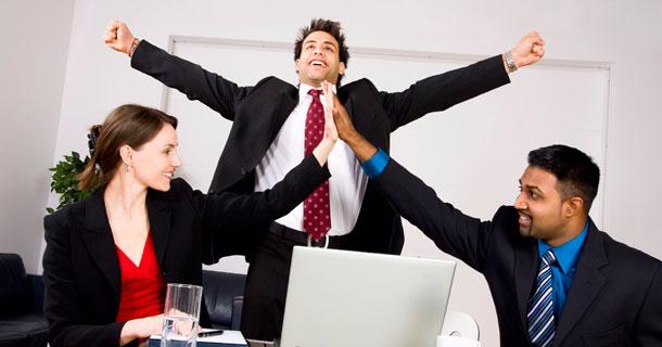 3 Business People Celebrating
