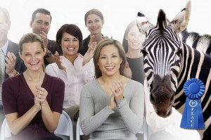 Zebra wins blue ribbon while others applaud