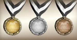 Gold, Silver, and Bronze Lones Group Medals