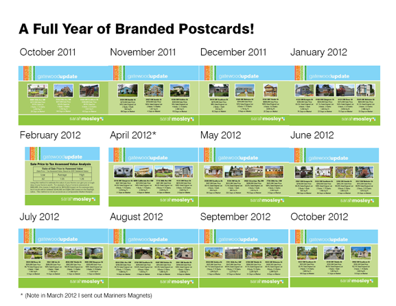 Sarah Mosley's year of postcards