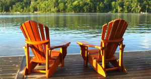 deck chairs and water view