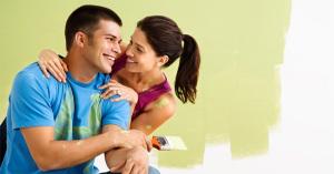 Happy Painting Couple