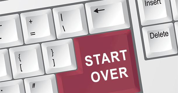 Start Over button