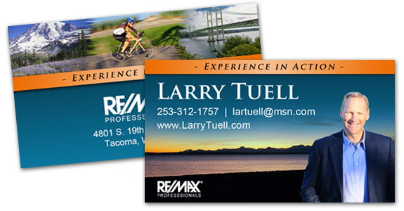 Larry Tuell Business Card