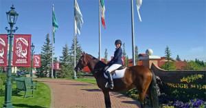 Alannah on horse