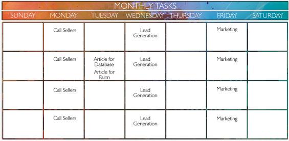 monthly tasks