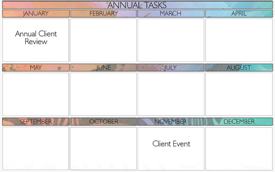 annual tasks